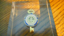 RARE  VINTAGE Glass Richard Fulton Mayor Gold  Colored Key Paperweight