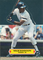 Willie Randolph 1987 Leaf pop-ups figure New York Yankees baseball card