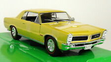 Nex Models 1/24-27 Scale - 1965 Pontiac GTO Gold Diecast model car