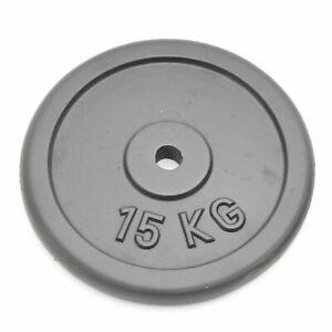 Hochwertige 15kg Hantelscheibe Bohrung 30.5mm Gusseisen Gewichte