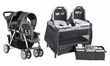 Chicco Cortina Double Baby Stroller Foldable Baby Trend Twin Playard Travel Set