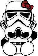 Hello Kitty Stormtrooper Car Window Wall Macbook Notebook Laptop Sticker Decal