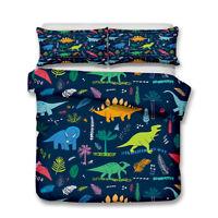 Zoo Dinosaur Kids Bedding Set Duvet Cover Animal 3D Print Quilt Cover Pillowcase
