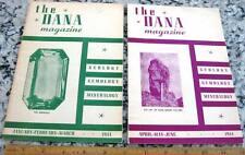 2 Issues The Dana Magazine 1944 Geology Gemology Mineralogy Minerals Gemstones