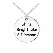 925 Silver Plt 'Shine Bright Like A Diamond' Pendant Necklace Rihanna Sia C
