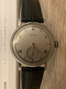 1940's SS Longines Calatrava Time 12.68z Mens Watch 35mm
