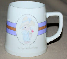 Mug To My Favorite Poppy Grandpa Grandfather Enesco Precious Moments 1987 Girl