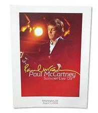 Paul Mccartney Summer Live 2009 Washington Dc Cardstock Tour Wall Poster New