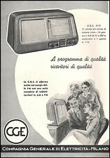 RADIO CGE MOD.4110 11 VALVOLE RICEVITORE PROGRAMMI QUALITA' FAMIGLIA MUSICA 1952