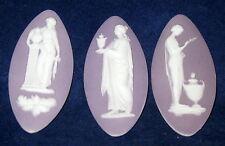 3 Early Wedgwood Lilac Jasperware Medallions