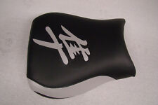 HAYABUSA 1999/00/01/02/03/04/05/06/2007 GSXR1300 FRONT SEAT COVER BLACK/SILVER
