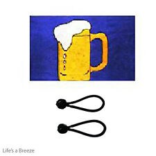 Beer Flag 5 x 3 Ft Flag Poles Or Windsocks Poles. Comes with Free Ball Ties