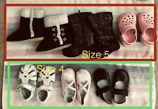 Toddler Girl's Shoes Boots Lot of 6 pairs Size 4 and 5 Varieties Gymboree Circo