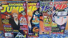 Shonen Jump 2009 Magazines + YU GI OH Darkness Neosphere CARD Vol 7 Issues 9-12