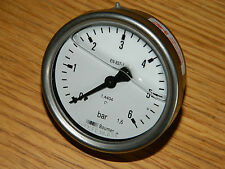 BAUMER 1.4404 837-1 BAR 0-6 Manometer 69mm MANOMETRE de PRESSION pressure gauge