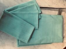 """Turquoise linen weave 60""""x 82"""" tablecloth with 4 matching napkins"""
