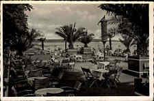 NIENDORF Ostsee alte Postkarte ~1930/40 Biergarten Außen-Terrasse IMMENHOF
