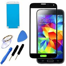 Black Replacement Screen Front Glass Lens Repair Tool Kit For Samsung Galaxy S5