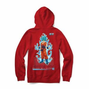 Youth Primitive Dragonball Z Super Goku Hoodie Red