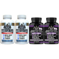 Monster Test Testosterone Booster Pack, Monster Test + Monster Test PM 4-PK