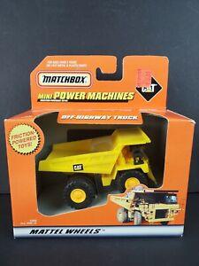 1999 Matchbox Mini-Powered Machines CAT Caterpillar Dump Truck Friction - NEW