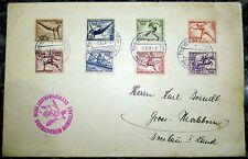 Brief Frankfurt Berlin Zeppelin Luftschiff Hindenburg 1936 Olympiafahrt Satz