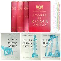 Teodoro Mommsen:  Storia di Roma antica, 3 Volumi - Subalpina Ed. 1943