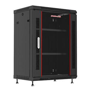 15U Wall Mount Network Server Data Cabinet Rack Enclosure with Bonus