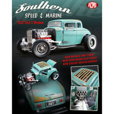 ACME 1:18 SOUTHERN SPEED & MARINE - 1932 FORD 5 WINDOW A1805012 DIECAST BLUE