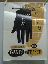 AFFICHE ANCIENNE PUB JOURNEES DES GANTS DE FRANCE GANTIER J DE PONDRAY