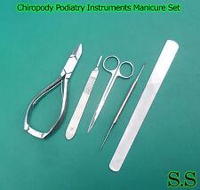 Chiropody Podiatry Instruments Manicure Set Pedicure Set Nail File Nail Cutter