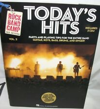 rock band camp todays hits music book with 2 cds playing tips for all areas