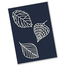 CLARITY STAMPS Petite Stencils FOSSIL LEAVES x 3 STE-PA-00373-PS 250 microns