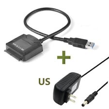 USB3.0 to 2.5 3.5 IDE SATA Hard Drive HDD SDD Converter Adapter PC Cable US Plug