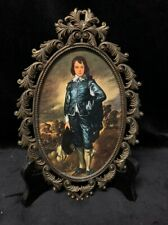"""Vintage """"The Blue Boy"""" by Thomas Gainsborough Brass Frame Picture"""
