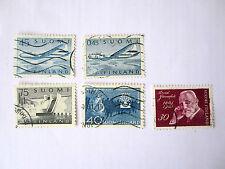 Briefmarken Finnland   1959  bis  1963  gestempelt