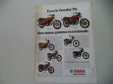 advertising Pubblicità 1979 YAMAHA XS 750 E/XS 1100/RD 400/XT 500/XS 400/SR 500