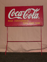 VINTAGE COKE SODA 1998 COCA COLA CO  REAL REFRESHMENT METAL ADVERTISING SIGN