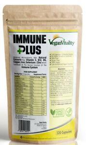 Immune Support Capsules, Immune Health Tablets with Elderberry Zinc Turmeric