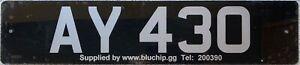 Alderney Channel Island UK Car Number License Licence Plate AY 430