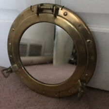 "11"" Brass Porthole Mirror Nautical Maritime Wall Decor Ship Cabin"