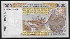 West African States Mali P-411Dl 1000 Francs 2002 Unc