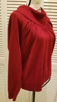 East 5th Womens Petite size PXL sweater  Long sleeve turtleneck Red  (M204)