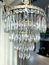 More details for antique waterfall icicle crystal chandelier