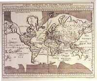 Antique map, Carte reduite du Globe Terrestre