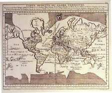 Antique map, Carte reduite du Globe Terrestre