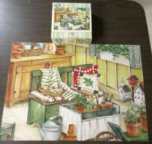 "Potting Bench Gooseberry Patch 750 piece Jigsaw Puzzle No. 31821  27"" x 19"""