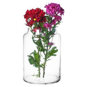 Large Clear Glass Cylinder Shaped Vases Flowers Aquarium Decorative Display Item