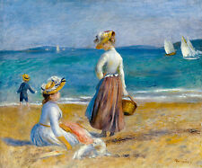 Renoir 1890, Figures on the Beach, Fade Resistant HD Art Print or Canvas