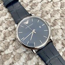 New Emporio Armani Blue Sunray Dial Men's Dress Watch 43mm AR2501 USA SHIP